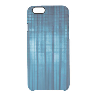Capa Para iPhone 6/6S Transparente Fundo do mosaico da tecnologia como uma arte do