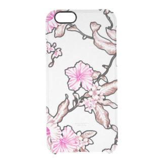 Capa Para iPhone 6/6S Transparente Gelo tropical do teste padrão de flor claro