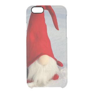 Capa Para iPhone 6/6S Transparente Gnomo escandinavo do Natal