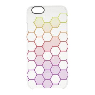 Capa Para iPhone 6/6S Transparente Hex da cor no branco
