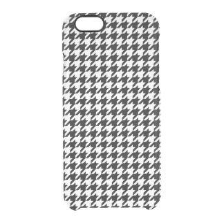 Capa Para iPhone 6/6S Transparente Houndstooth preto e branco