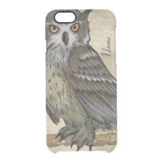 Capa Para iPhone 6/6S Transparente Ilustração da coruja