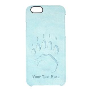 Capa Para iPhone 6/6S Transparente Impressão da pata de urso polar