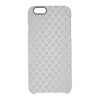 Capa Para iPhone 6/6S Transparente iPhone mínimo das ondas da grafite das cinzas de