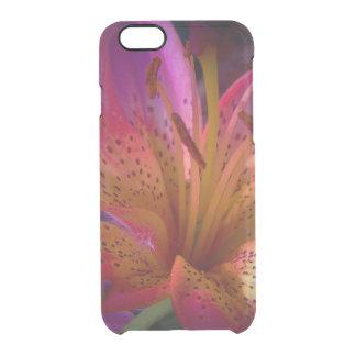 Capa Para iPhone 6/6S Transparente Lírio cor-de-rosa - confusão bonita