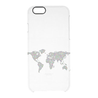Capa Para iPhone 6/6S Transparente Mapa do mundo
