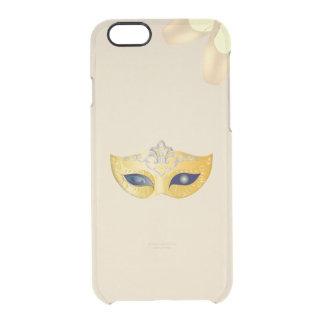 Capa Para iPhone 6/6S Transparente Máscara da ópera do balé e calçados dourados de