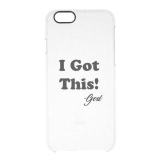 Capa Para iPhone 6/6S Transparente Mensagem do deus