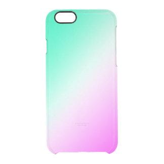 Capa Para iPhone 6/6S Transparente Mistura verde e cor-de-rosa do espaço livre do