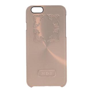 Capa Para iPhone 6/6S Transparente Monograma cor-de-rosa do falso 3D do caso do