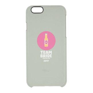 Capa Para iPhone 6/6S Transparente Noiva Vancôver da equipe Henparty 2017 Zkj6h
