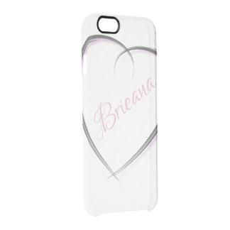 Capa Para iPhone 6/6S Transparente Nome personalizado   artística do coração