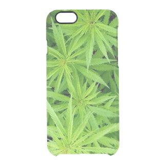 Capa Para iPhone 6/6S Transparente O iPhone 6/6S da erva daninha cancela o caso