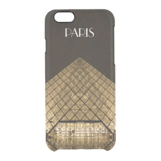 Capa Para iPhone 6/6S Transparente O iPhone 6/6S da pirâmide do Louvre cancela o caso