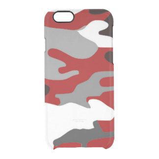 Capa Para iPhone 6/6S Transparente O vermelho sombreia Camo