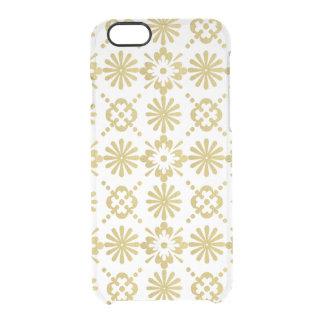 Capa Para iPhone 6/6S Transparente O Victorian do ouro inspirou o teste padrão