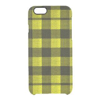 Capa Para iPhone 6/6S Transparente Olhar Checkered de serapilheira do teste padrão do