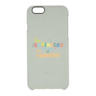 Capa Para iPhone 6/6S Transparente Os engenheiros são em setembro Zt500 nascidos