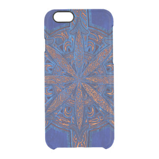 Capa Para iPhone 6/6S Transparente Ouro no caos azul