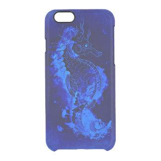 Capa Para iPhone 6/6S Transparente Pintura azul do cavalo marinho