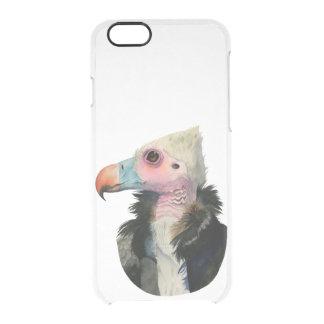 Capa Para iPhone 6/6S Transparente Pintura Branco-Dirigida da aguarela do abutre
