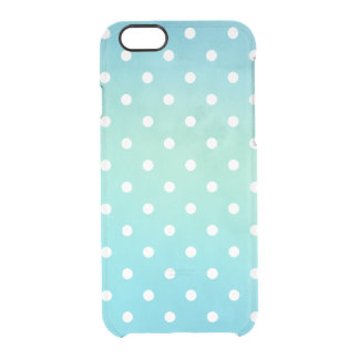 Capa Para iPhone 6/6S Transparente Polkadots moderno no caso do iPhone 6/6s do espaço
