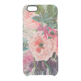 Capa Para iPhone 6/6S Transparente Pop da flor
