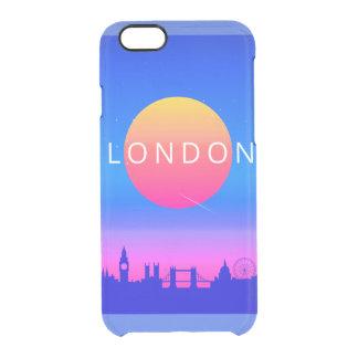 Capa Para iPhone 6/6S Transparente Poster de viagens dos marcos de Londres
