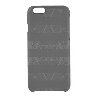 Capa Para iPhone 6/6S Transparente Preto Embellished Argyle listrado