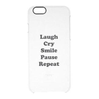 Capa Para iPhone 6/6S Transparente Repetição do riso