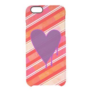 Capa Para iPhone 6/6S Transparente Roxo de derretimento do coração