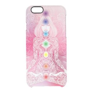 Capa Para iPhone 6/6S Transparente Senhora cor-de-rosa de sete Chakras