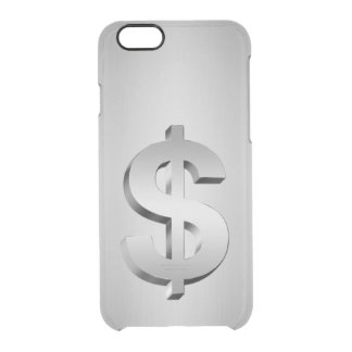 Capa Para iPhone 6/6S Transparente Símbolo do dólar