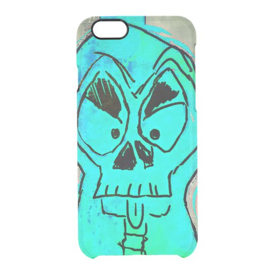 Capa Para iPhone 6/6S Transparente Skullblue Iphone case