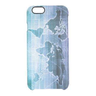 Capa Para iPhone 6/6S Transparente Soluções globais da tecnologia no Internet