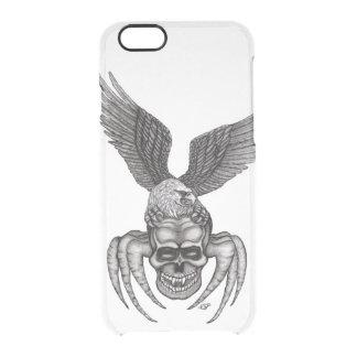 Capa Para iPhone 6/6S Transparente Spiderskull com Eagle