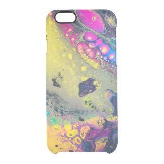 """Capa Para iPhone 6/6S Transparente """"Sujos acrílicos coloridos selvagens derramam """""""