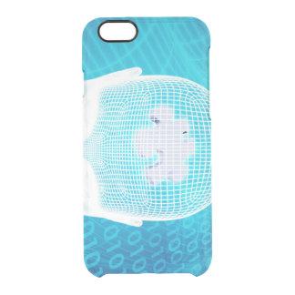 Capa Para iPhone 6/6S Transparente Tecnologia futurista com a microplaqueta Soluti do