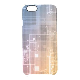 Capa Para iPhone 6/6S Transparente Tecnologia futurista como uma arte da próxima