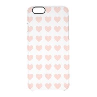 Capa Para iPhone 6/6S Transparente Teste padrão cor-de-rosa do coração