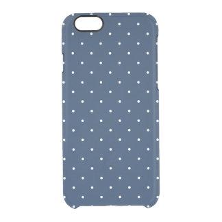 Capa Para iPhone 6/6S Transparente teste padrão de bolinhas branco dos azuis marinhos