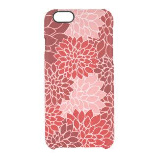 Capa Para iPhone 6/6S Transparente Teste padrão de flor vermelho dramático e lindo da