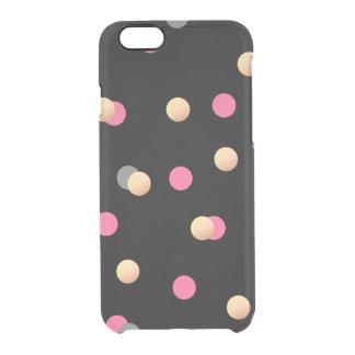 Capa Para iPhone 6/6S Transparente teste padrão de pontos cinzento dos confetes do