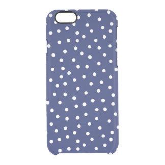 Capa Para iPhone 6/6S Transparente Teste padrão de pontos dos confetes dos azuis