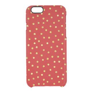 Capa Para iPhone 6/6S Transparente Teste padrão de pontos elegante dos confetes da