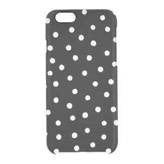 Capa Para iPhone 6/6S Transparente Teste padrão de pontos preto e branco dos confetes