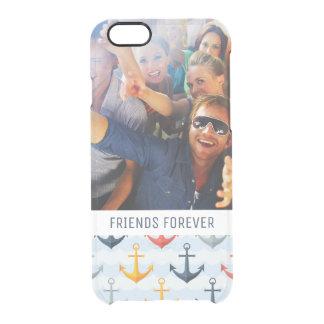 Capa Para iPhone 6/6S Transparente Teste padrão náutico feito sob encomenda da foto &