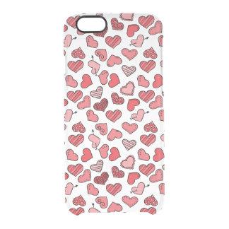 Capa Para iPhone 6/6S Transparente Teste padrão simples de vibração dos corações dos