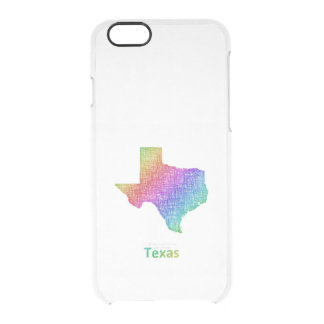 Capa Para iPhone 6/6S Transparente Texas