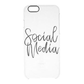 Capa Para iPhone 6/6S Transparente Tipografia social dos amantes dos meios